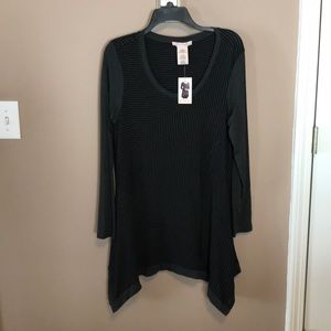 Cute black and grey tunic top